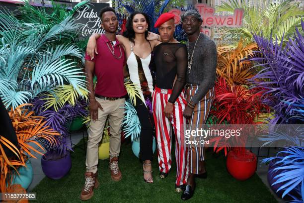Devon Carpenter Leyna Bloom Taliek Jeqon and Christopher Quarles attend Saks Fifth Avenue And The Stonewall Inn Gives Back Initiative Celebration...