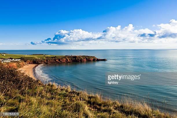 devon coastline - devon stock pictures, royalty-free photos & images