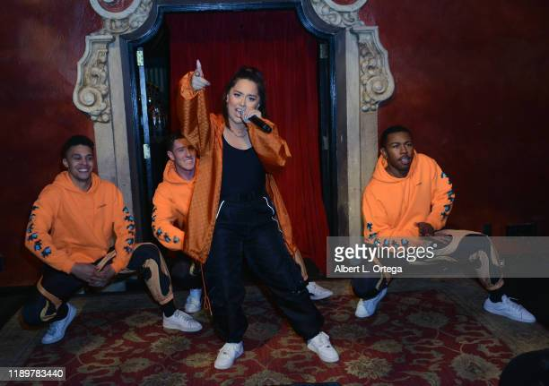 Devon Daniels Tiana Kocher Joe Friedman and Kebahb Glanville perform at the 10th Annual Hollywood Music In Media Awards After Party held at Avalon...