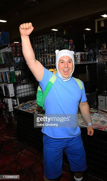 Devon Dixon as the character Finn attends the Amazing Las Vegas Comic Con at the South Point Hotel Casino on June 14 2013 in Las Vegas Nevada