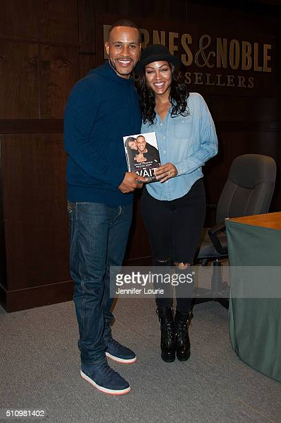 Devon Franklin and Meagan Good arrive for their book signing of 'The Wait A Powerful Practice For Finding The Love Of Your Live And The Life You...