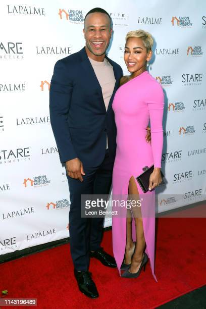 DeVon Franklin and Meagan Good attend Lapalme Magazine's Party for Cover Stars Anthony Anderson And Meagan Good at Sofitel Los Angeles At Beverly...