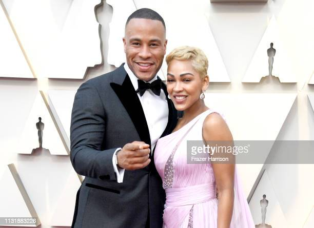 DeVon Franklin and Meagan Good attend the 91st Annual Academy Awards at Hollywood and Highland on February 24 2019 in Hollywood California