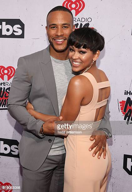 DeVon Franklin and Meagan Good attend the iHeartRadio Music Awards at the Forum on April 3 2016 in Inglewood California