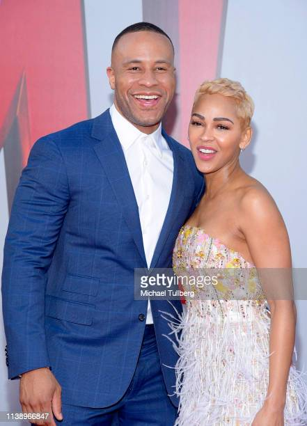 DeVon Franklin and Meagan Good attend the Warner Bros Pictures And New Line Cinema's World Premiere Of SHAZAM at TCL Chinese Theatre on March 28 2019...