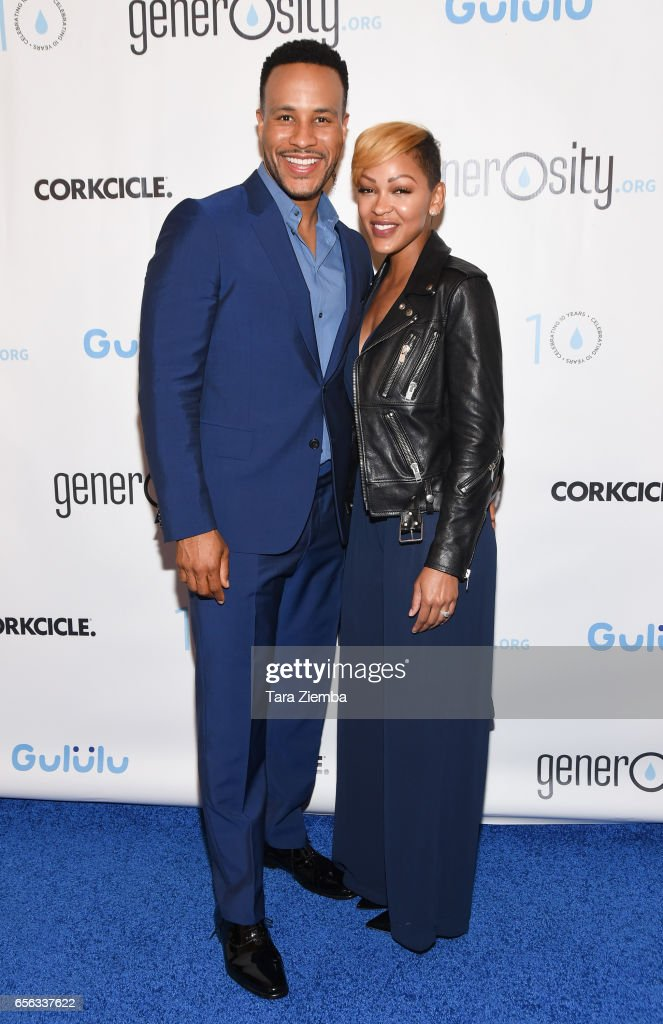 Devon Franklin and Megan Good attend a Generosity.org fundraiser for World Water Day at Montage Hotel on March 21, 2017 in Beverly Hills, California.