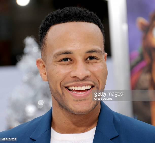 DeVon Franklin arrives at the premiere of Columbia Pictures' 'The Star' at Regency Village Theatre on November 12 2017 in Westwood California