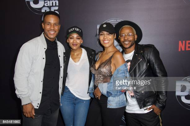 Devon Franklin Meagan Good Lamia Good and Eric Bellinger attend Netflix Presents Russell Simmons 'Def Comedy Jam 25' Special Event at The Beverly...