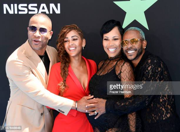 DeVon Franklin Meagan Good La'Myia Good and Eric Bellinger attend the 2019 BET Awards on June 23 2019 in Los Angeles California