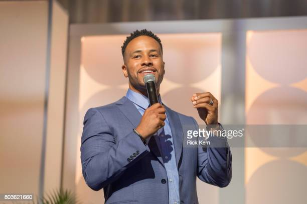 DeVon Franklin speaks during the MegaFest Leading Men In Hollywood Panel at the Omni Hotel on June 29 2017 in Dallas Texas