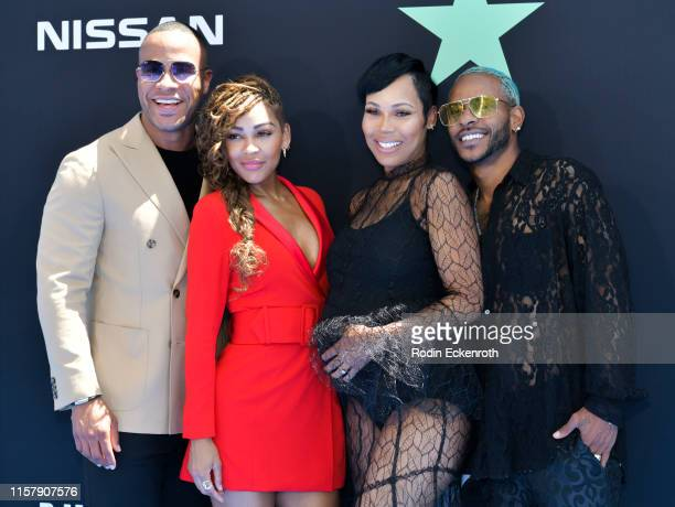 DeVon Frankling Meagan Good La'Myia Good and Eric Bellinger attend the 2019 BET Awards on June 23 2019 in Los Angeles California