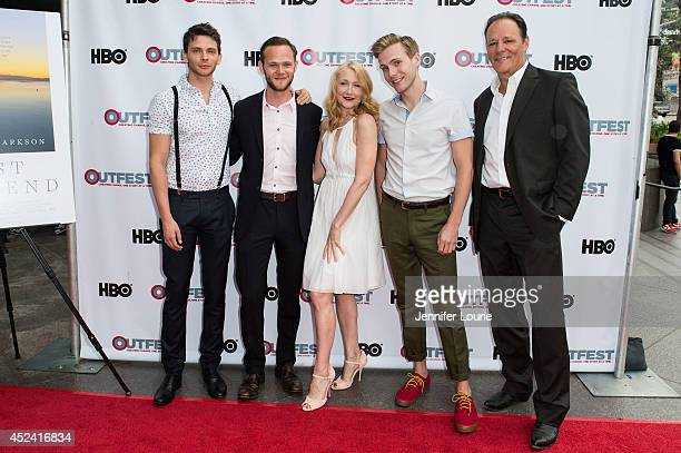 Devon Graye Joseph Cross Patricia Clarkson Zachary Booth and Chris Mulkey arrives at the 2014 Outfest Film Festival 'Last Weekend' premiere at DGA...