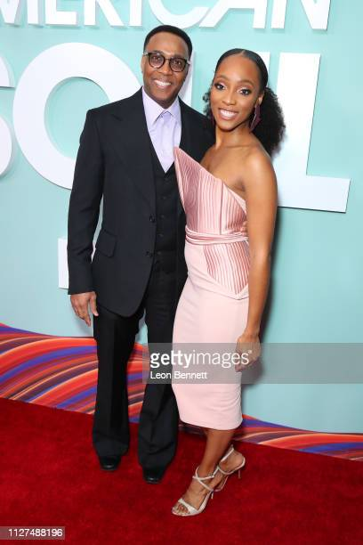 Devon Greggory and Iantha Richardson attend BET's American Soul Los Angeles Premiere on February 04 2019 in North Hollywood California