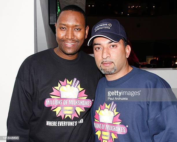 Devon Guzzie Sheeraz Hasan of Millions Of Milkshakes attend the charity launch for the Boys And Girls Club of Venice at Millions Of Milkshakes on...