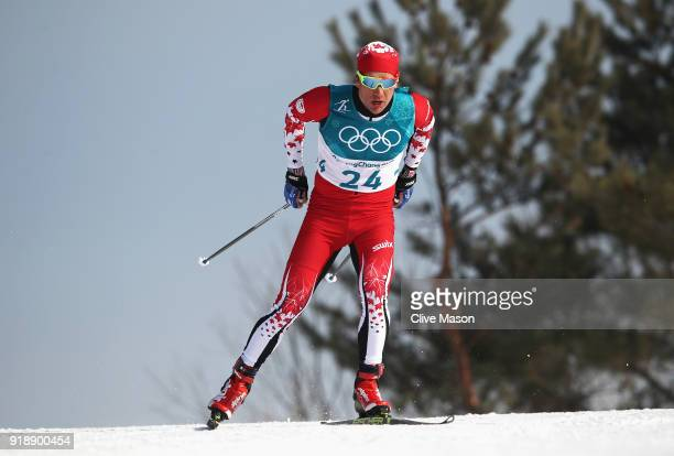 Devon Kershaw of Canada competes during the CrossCountry Skiing Men's 15km Free at Alpensia CrossCountry Centre on February 16 2018 in Pyeongchanggun...