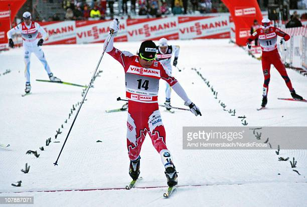 Devon Kershaw of Canada competes during the individual sprint men for the FIS Cross Country World Cup Tour de Ski on January 5 2011 in Toblach...