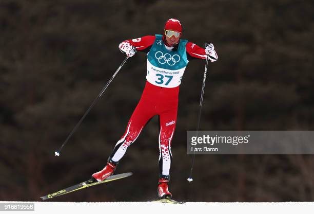 Devon Kershaw of Canada competes during the Men's 15km and 15km Skiathlon CrossCountry Skiing on day two of the PyeongChang 2018 Winter Olympic Games...