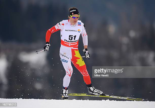 Devon Kershaw of Canada in action during the Men's Cross Country Individual 15km at the FIS Nordic World Ski Championships on February 27 2013 in Val...