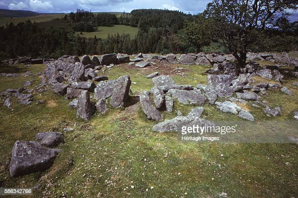 Devon Kestor 20th century Bronze Age / Iron Age Settlement Site The Round Pound is an Archaeological Site in Chagford Devon consisting of a large hut...