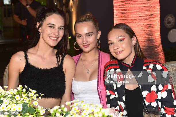 Devon Lee Carlson Suede Brooks and Maddie Ziegler attend the Marc Jacobs Fragrances Celebrates the Launch of DAISY LOVE on May 9 2018 in Los Angeles...