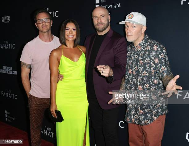 """Devon Sawa, Ana Golja, John Travolta and Fred Durst attend the Premiere Of Quiver Distribution's """"The Fanatic"""" at the Egyptian Theatre on August 22,..."""
