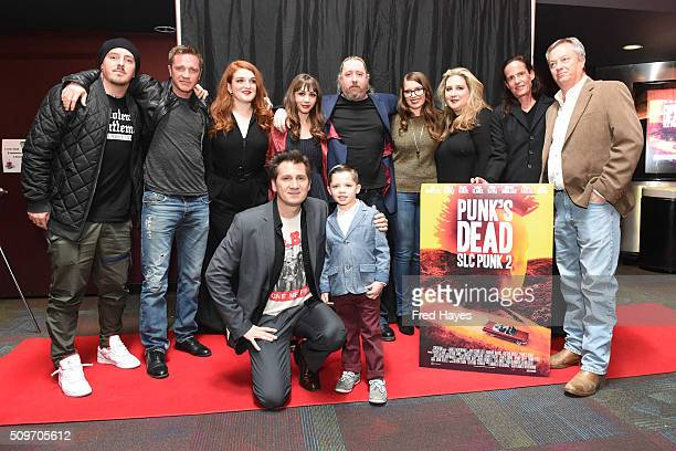 Devon Sawa Jenny Jaffe Michael Goorjian Hannah Marks Canyon Canary Director James Merendino Emma Pace and Michael Goorjian arrive at the Punk's Dead...