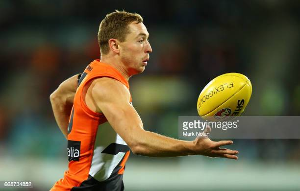 Devon Smith of the Giants in action during the round four AFL match between the Greater Western Sydney Giants and the Port Adelaide Power at UNSW...