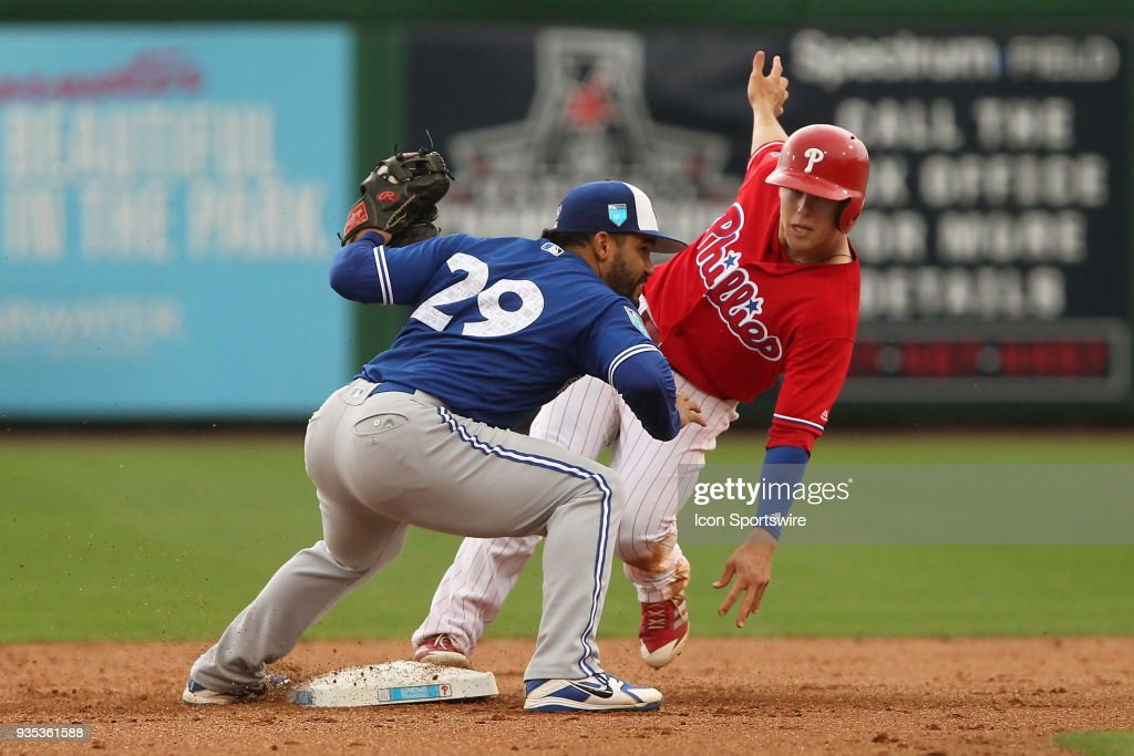 MLB: MAR 20 Spring Training - Blue Jays at Phillies : News Photo