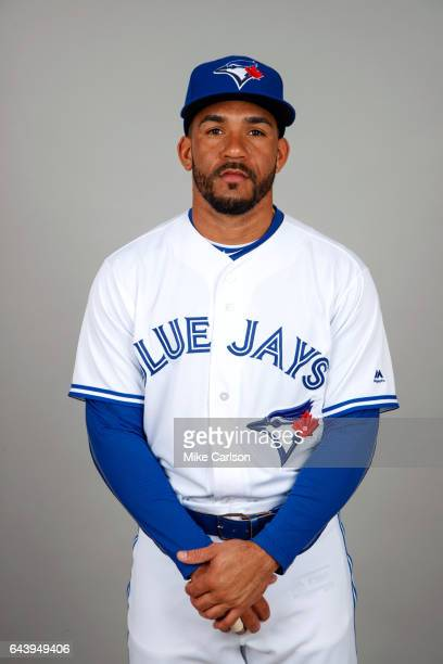 Devon Travis of the Toronto Blue Jays poses during Photo Day on Tuesday February 21 2017 at Florida Auto Exchange Stadium in Dunedin Florida
