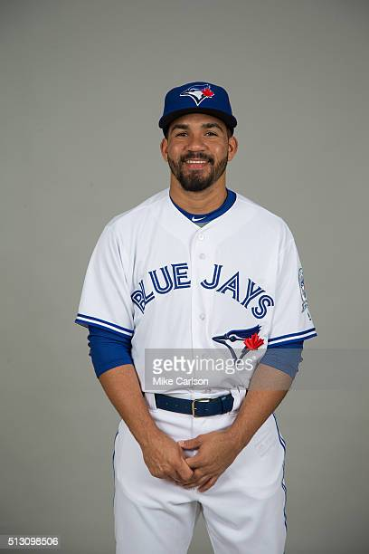 Devon Travis of the Toronto Blue Jays poses during Photo Day on Saturday February 27 2016 at Florida Auto Exchange Stadium in Dunedin Florida