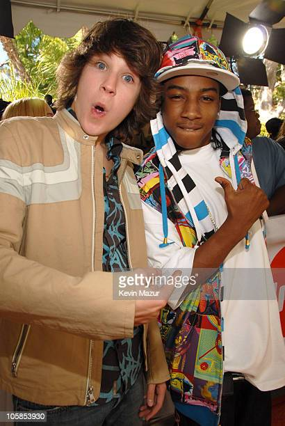 Devon Werkheiser and Lil J during Nickelodeon's 20th Annual Kids' Choice Awards Orange Carpet at Pauley Pavilion in Westood California United States
