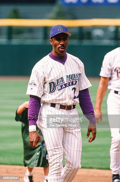 Devon White of the Arizona Diamondbacks during the All-Star Game on July 7, 1998 at Coors Field in Denver, Colorado.