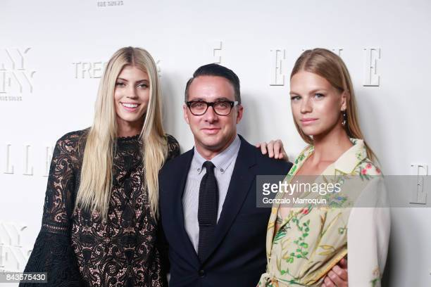 Devon Windsor Adam Stotsky and Nadine Leopold attend the ELLE E IMG Host A Celebration of Personal Style NYFW Kickoff Party at 5 Doyers St on...