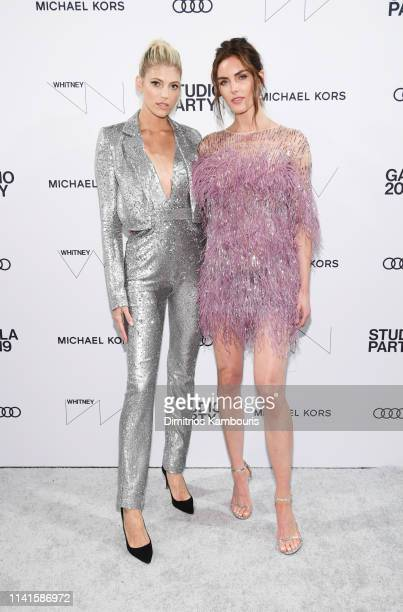 Devon Windsor and Hilary Rhoda attend the Whitney Museum Of American Art Gala Studio Party at The Whitney Museum of American Art on April 09 2019 in...