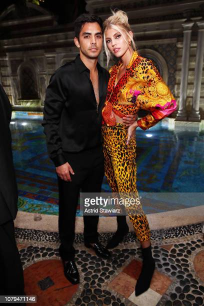 Devon Windsor and Johnny Dex attend What Goes Around Comes Around 25th Anniversary Celebration At The Versace Mansion With a Retrospective Tribute To...