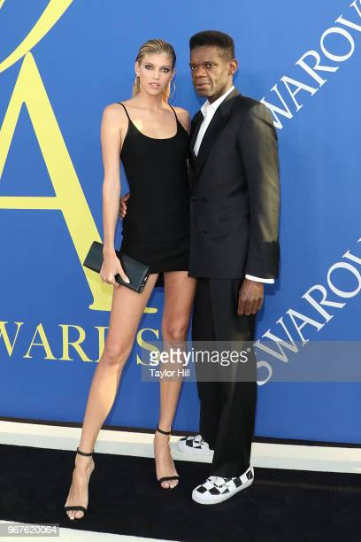 Devon Windsor and Victor Glemaud attend the 2018 CFDA Awards at Brooklyn Museum on June 4 2018 in New York City