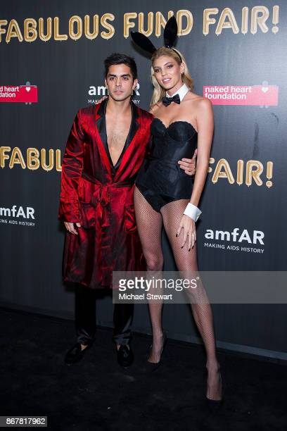 Devon Windsor attends 2017 amfAR and The Naked Heart Foundation Fabulous Fund Fair at Skylight Clarkson Sq on October 28 2017 in New York City