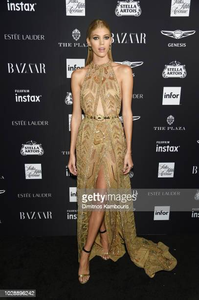Devon Windsor attends as Harper's BAZAAR Celebrates ICONS By Carine Roitfeld at the Plaza Hotel on September 7 2018 in New York City