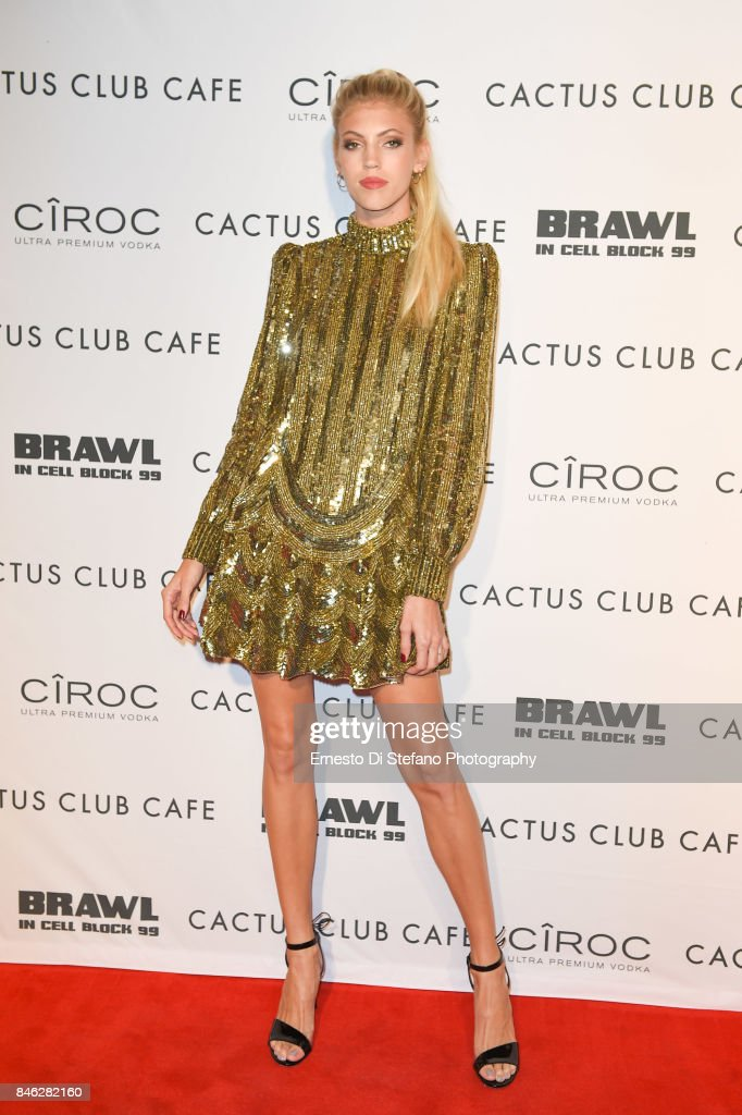 Devon Windsor attends 'Brawl In Cell Block 99' Premiere Party Hosted By Cactus Club Cafe At First Canadian Place In partnership With CIROC at First Canadian Place on September 12, 2017 in Toronto, Canada.