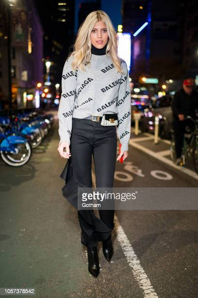 Devon Windsor attends fittings for the 2018 Victoria's Secret Fashion Show in Midtown on November 4 2018 in New York City