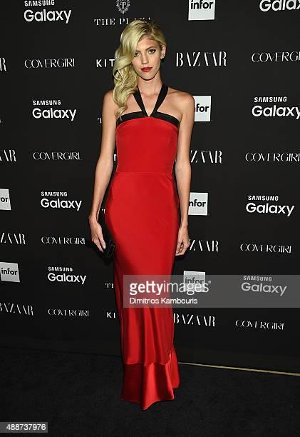 Devon Windsor attends the 2015 Harper's BAZAAR ICONS Event at The Plaza Hotel on September 16 2015 in New York City