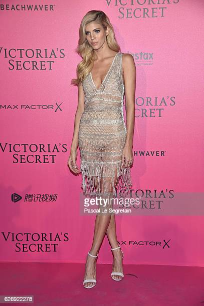 Devon Windsor attends the 2016 Victoria's Secret Fashion Show after party on November 30 2016 in Paris France