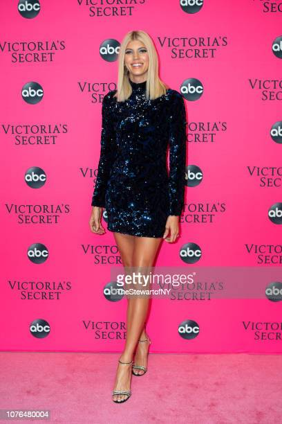 Devon Windsor attends the 2018 Victoria's Secret Fashion Show viewing party at Spring Studios on December 02 2018 in New York City