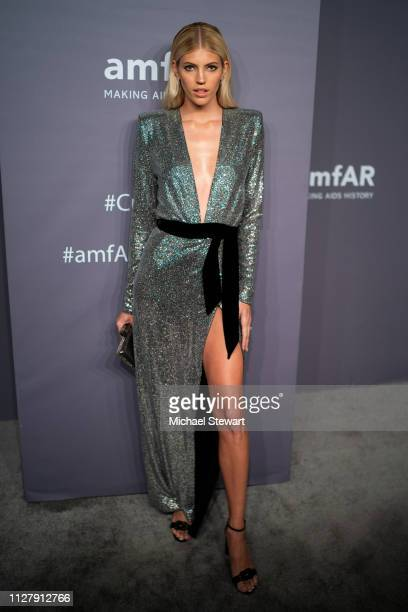 Devon Windsor attends the 2019 amfAR New York Gala at Cipriani Wall Street on February 06 2019 in New York City