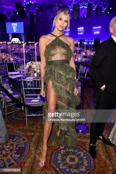 Devon Windsor attends the 2020 amfAR New York Gala at Cipriani Wall Street on February 05 2020 in New York City