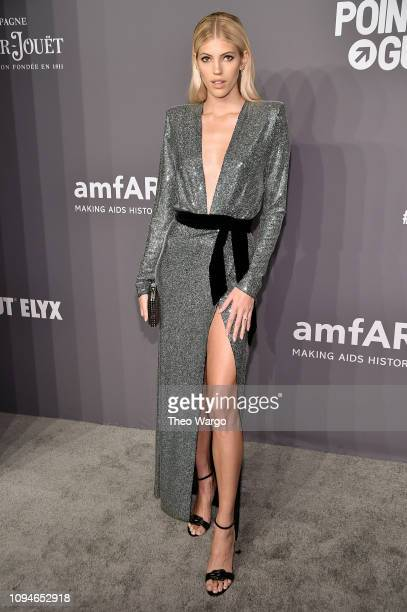 Devon Windsor attends the amfAR New York Gala 2019 at Cipriani Wall Street on February 6 2019 in New York City