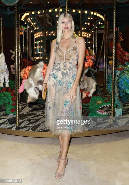 Devon Windsor attends the Raul De Nieves event presented by Bvlgari Art Production Fund during Art Basel Miami Beach 2018 at Faena Hotel on December...