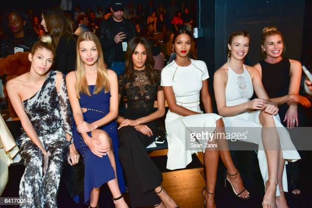 Devon Windsor Daphne Groeneveld Cindy Bruna Lais Ribeiro Hailey Clauson and Niki Taylor attend the Jonathan Simkhai show during New York Fashion Week...