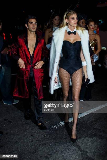 Devon Windsor is seen in Chelsea on October 28 2017 in New York City