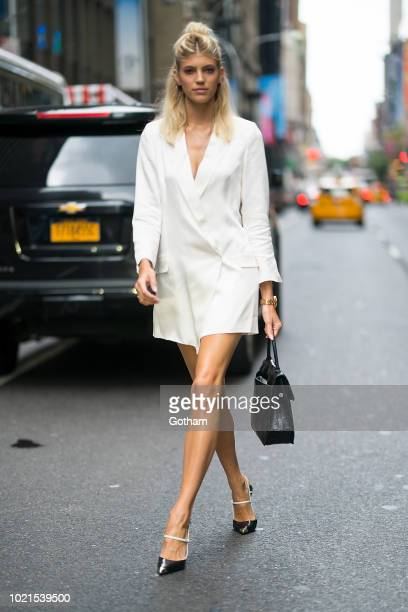 Devon Windsor is seen in Midtown on August 22 2018 in New York City